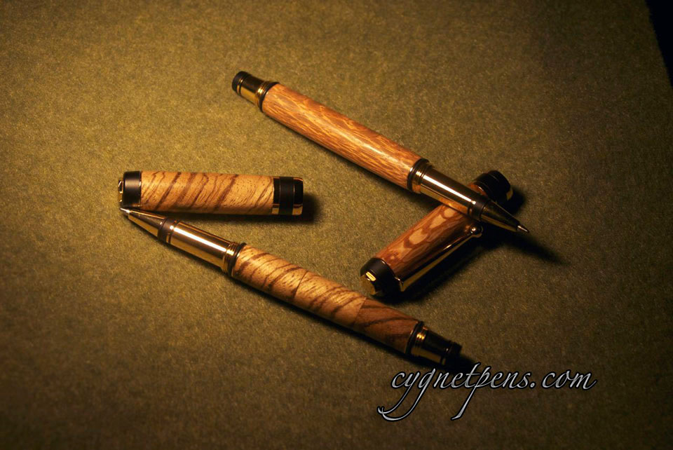 Capri Rollerball in Lacewood and Zebrawood