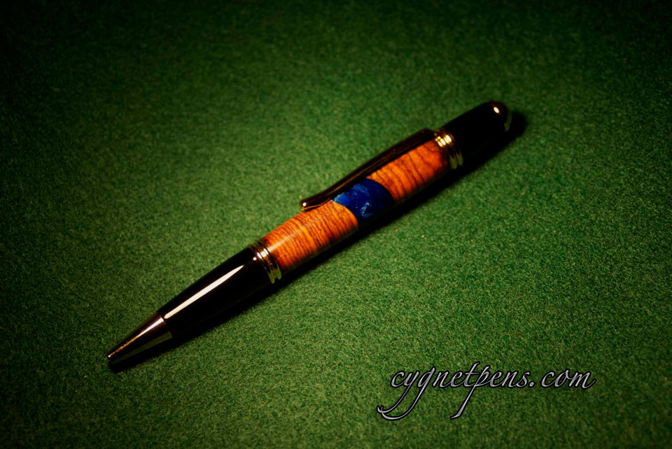 Diagonal Cocobolo Twist Pen